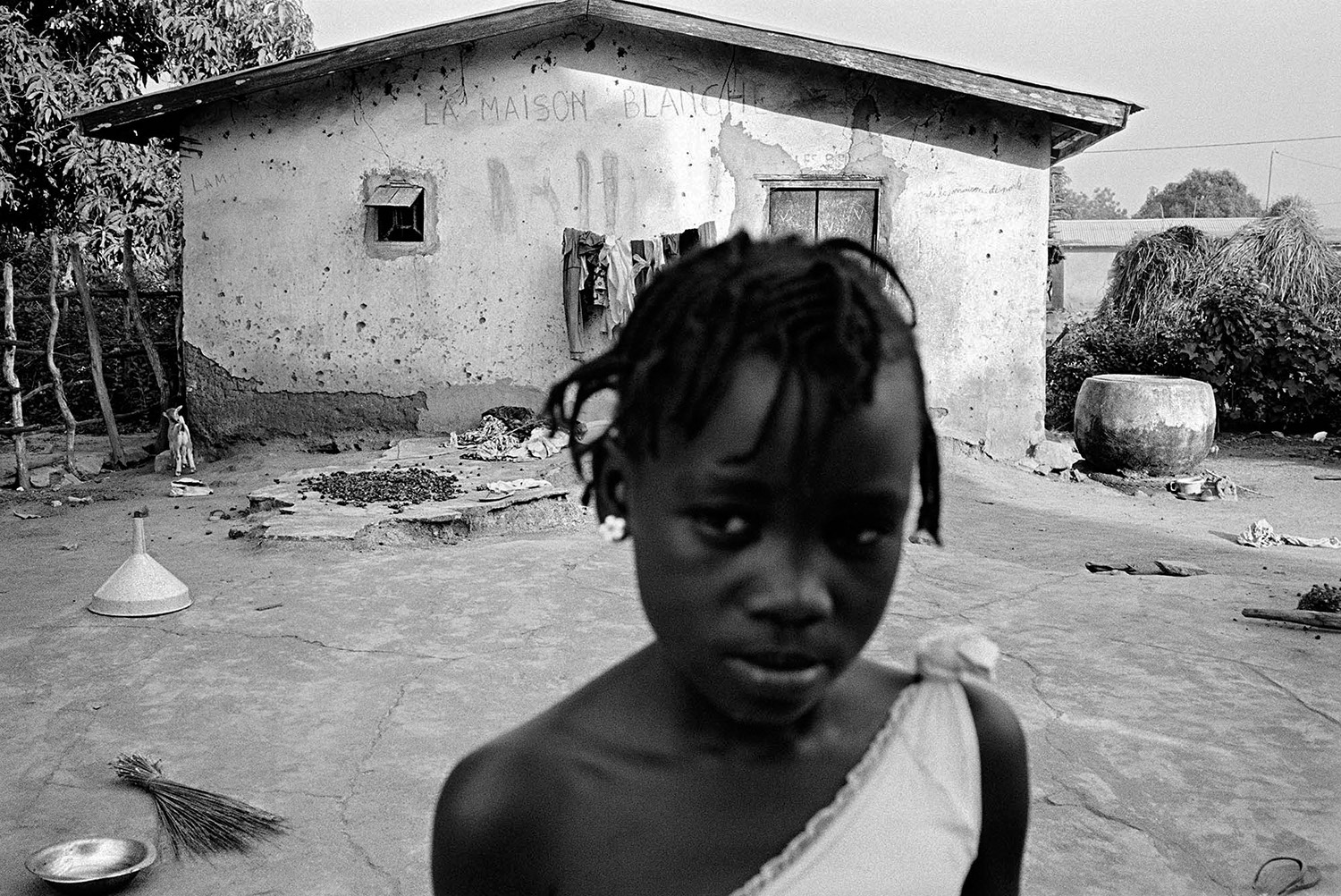Hundreds of people in the Burkinabe village of Tenkodogo, especially youth, like this young girl, have no documentation.