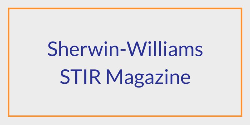 Sherwin-Williams Stir Magazine