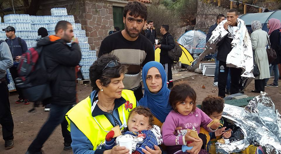 Photo of the Syrian family that I helped off the boat on my first day in Lesvos.