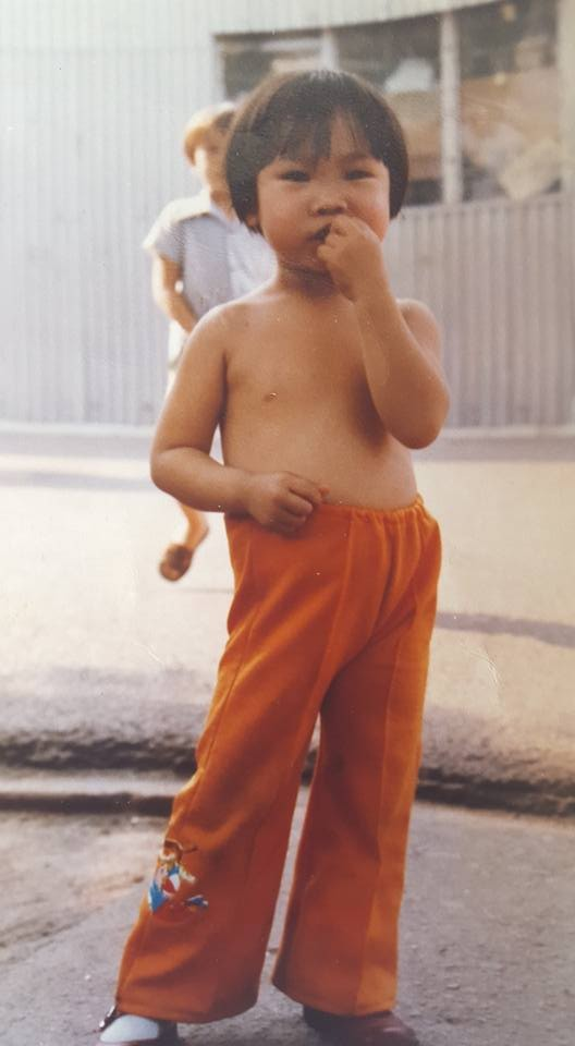 Picture of me at 3 at a refugee camp in Hong Kong.
