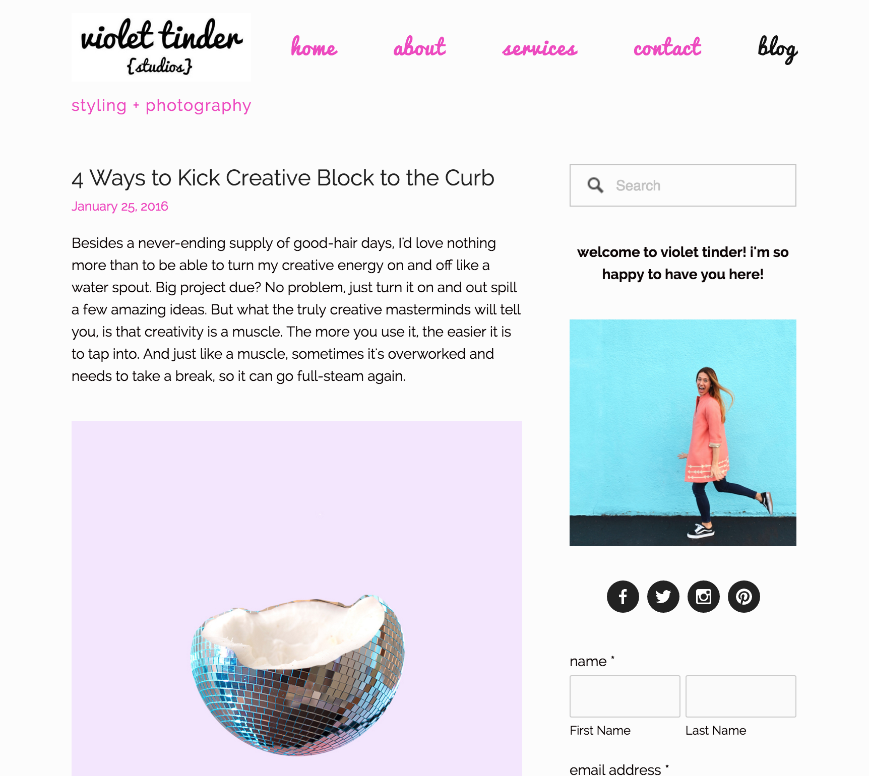 Violet Tinder Feature