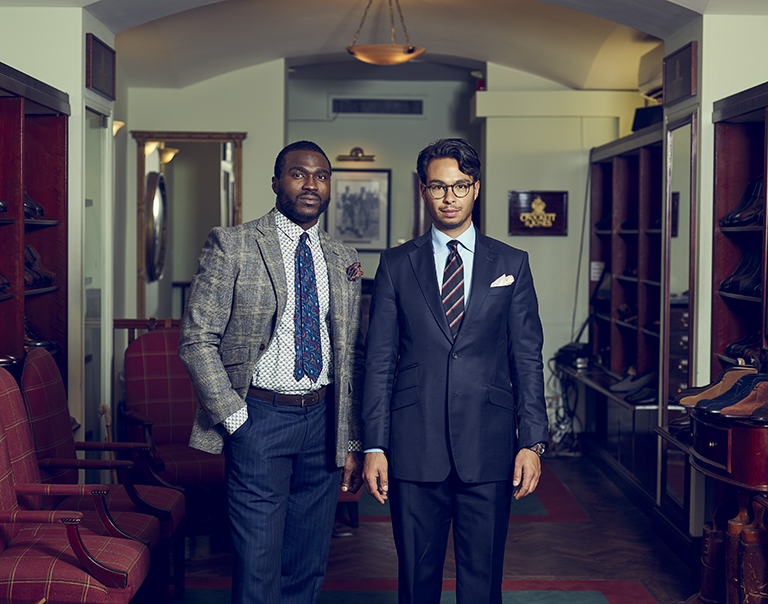 Two current sales staff within the Jermyn Street store.