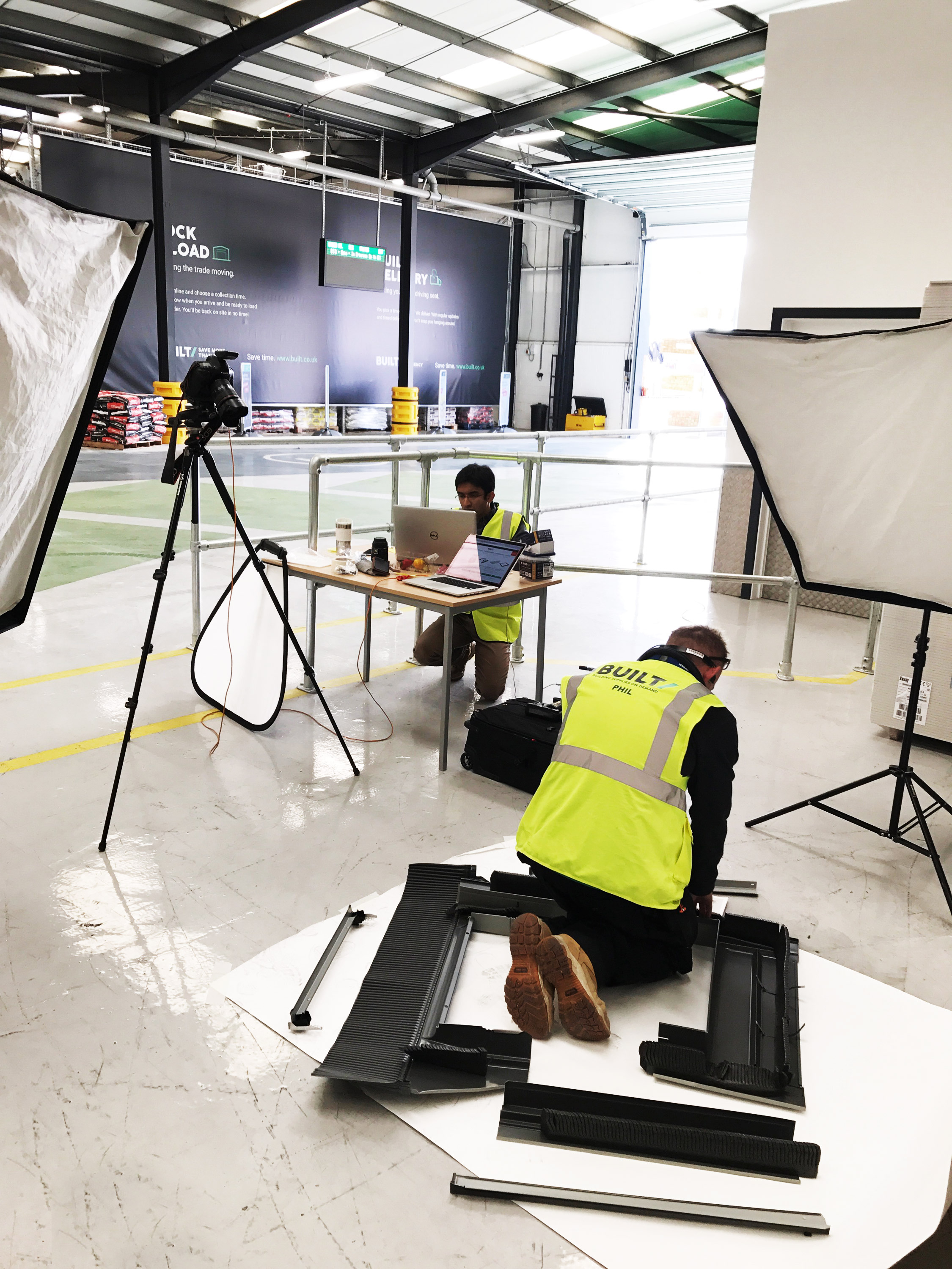 Products being shot on site in Birmingham just prior to launch.