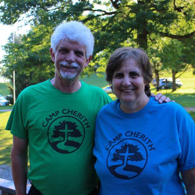 Fisher (Orville White) and Rufous (Evie White). Rufous is our current camp director. Fisher comes to camp with her every summer to teach activities and do handyman work.