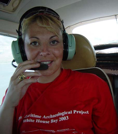 Florence conducting an aerial survey over The White House Bay Wreck in St. Kitts