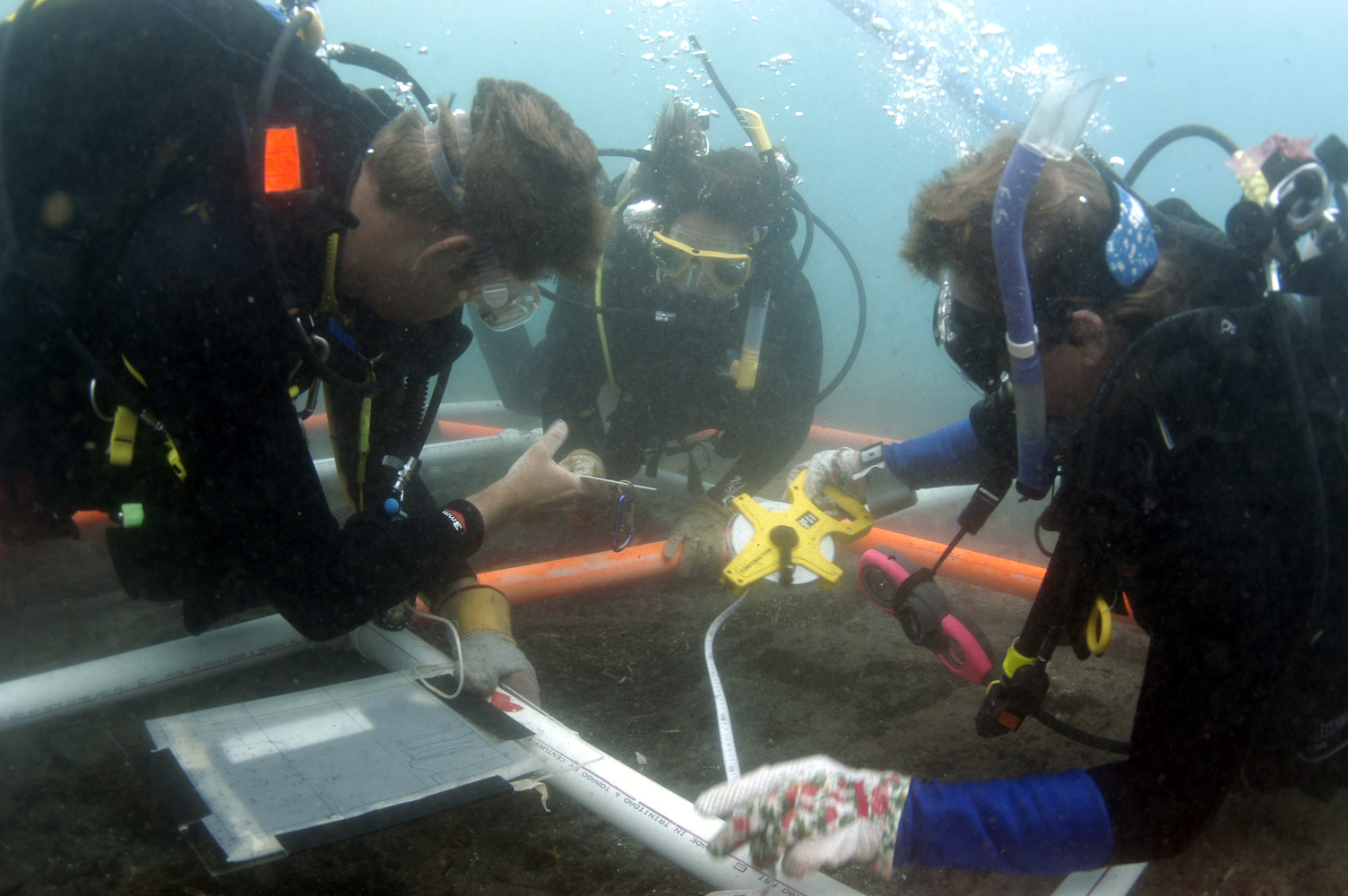 Learn The Skills Of Maritime Archaeology   Take Part    Join our Projects   White House Bay Wreck - Battle of Frigate Bay 1782,  St. Kitts. Surveyed 2003.