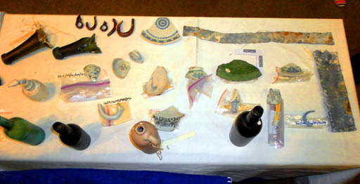 Some of the objects found in shipwrecks dating from the fifteenth century.