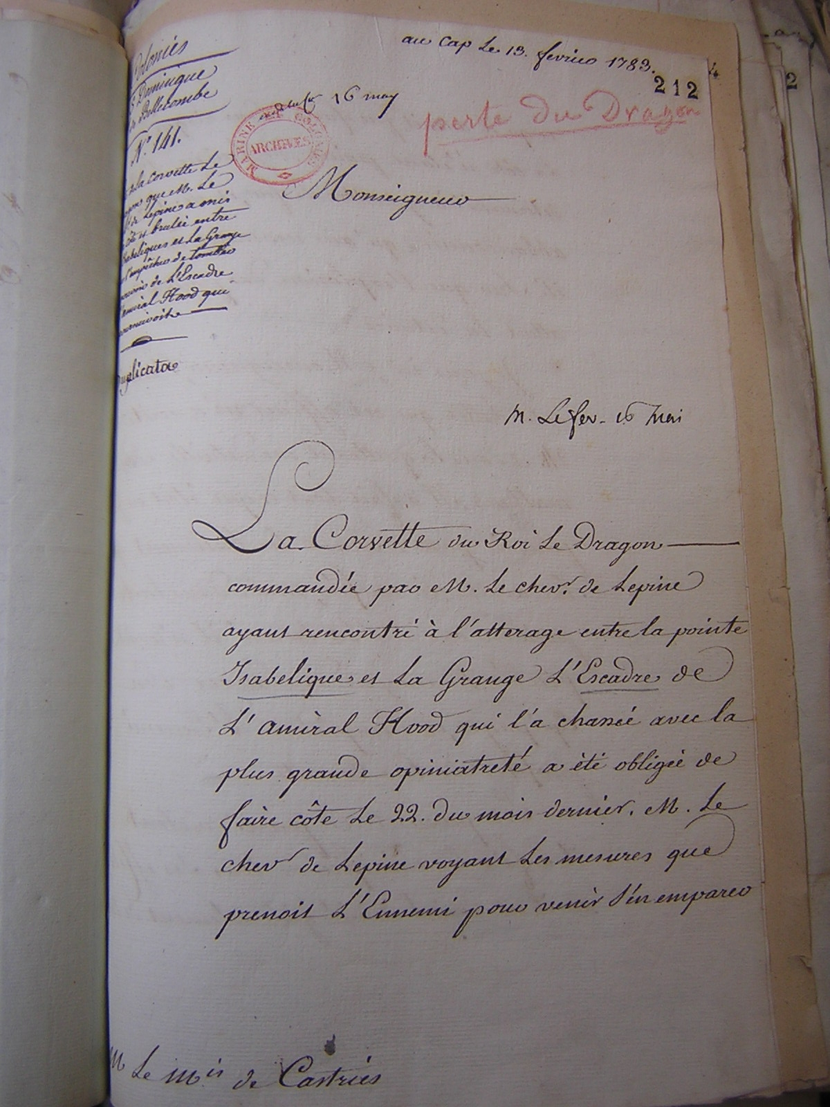 A page form the archives telling some of the story