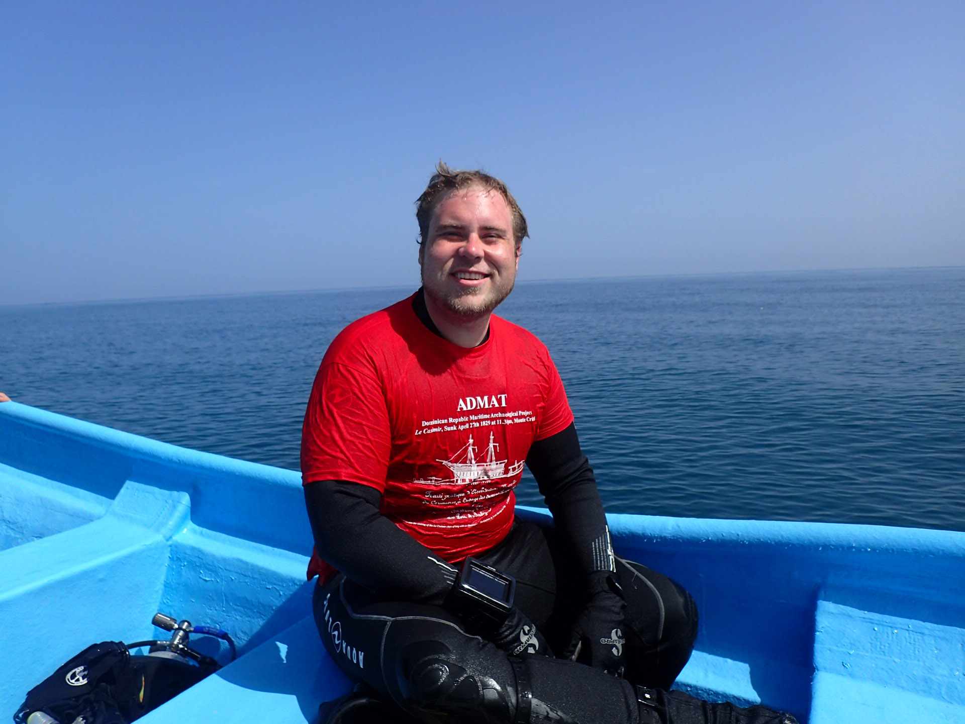 Happy Stephen after a great dive