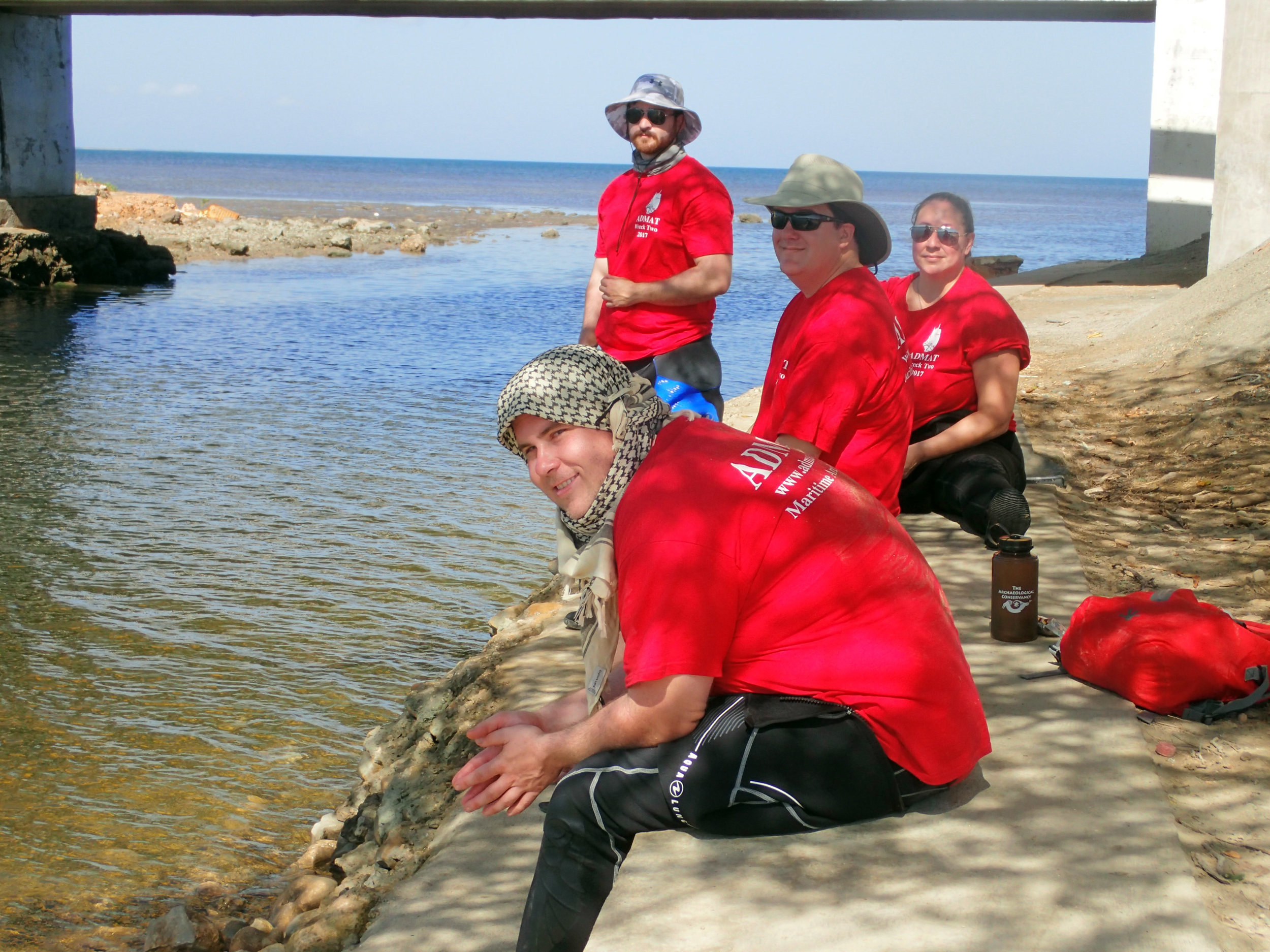 Stephen and Team waiting for the boat to go to the site in Monte Cristi