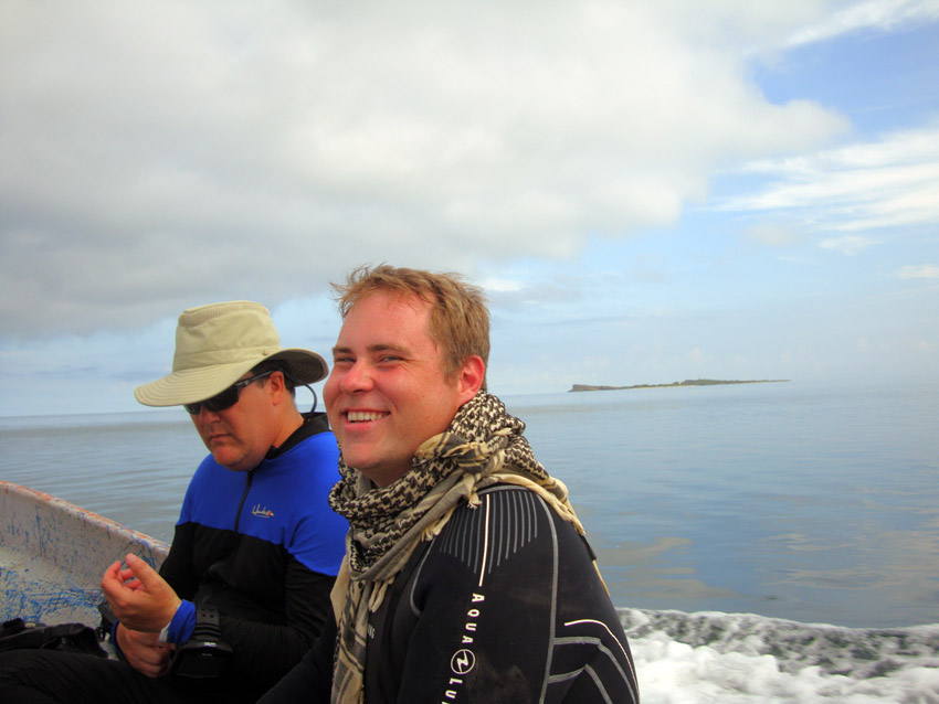 Stephen out to the wreck site