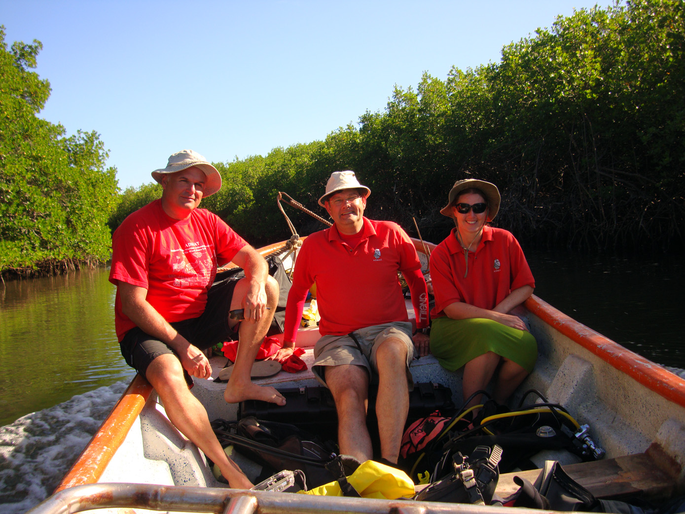 Raimund Krob, Dr Simon Spooner and Nikki Bose on the way to   The Tile Wreck   in 2013