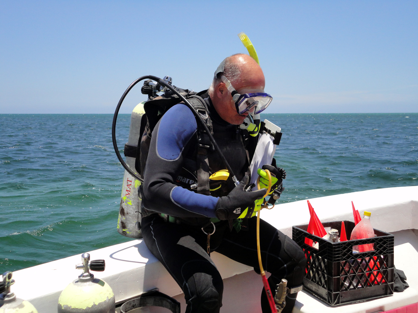 Action man Raimund Krob ready to start survey work on   The Island Wreck    in 2012