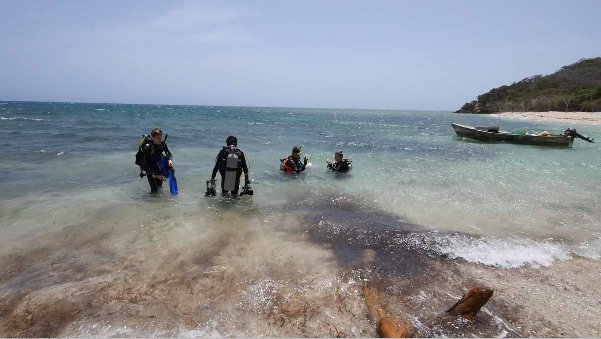 """The Team goes on their first dive to locate """"Le Dragon"""" in the shallows"""