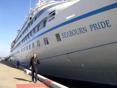 Dr Spooner with the   Seabourn Pride