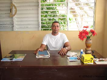 Jonny E. Marte, founder, Principal and teacher of John's English School.
