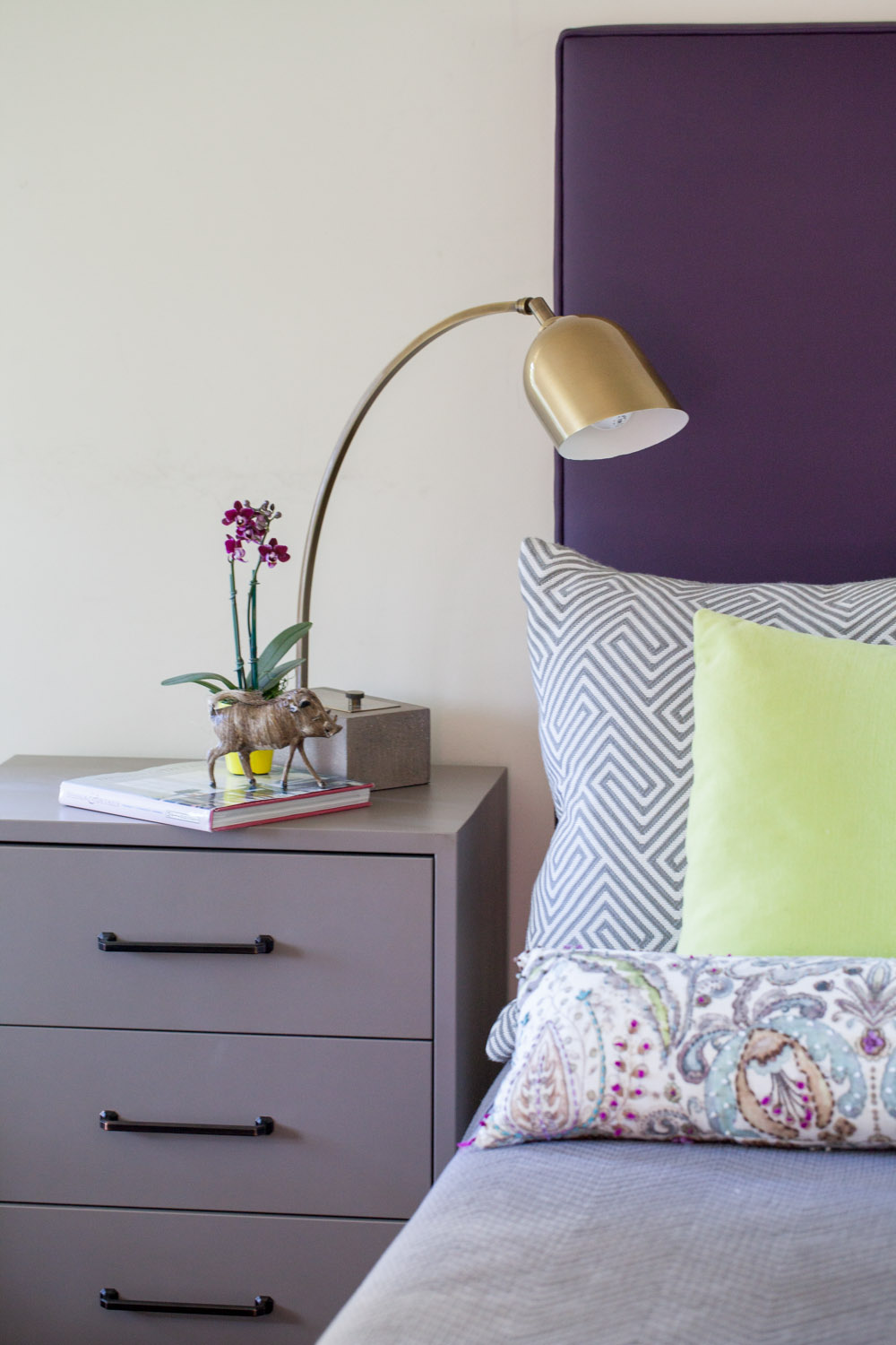 Interior Design by Price Style and Design featuring Pantone Color of the Year: Ultra Violet. Photography by  Terry Riggins .