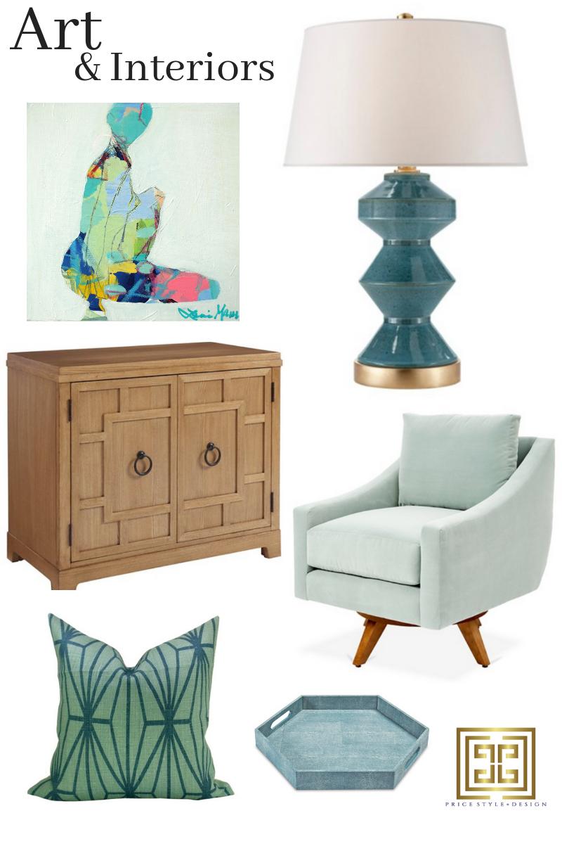 Art  //  Lamp  //  Chest  //  Chair  //  Pillow  //  Tray