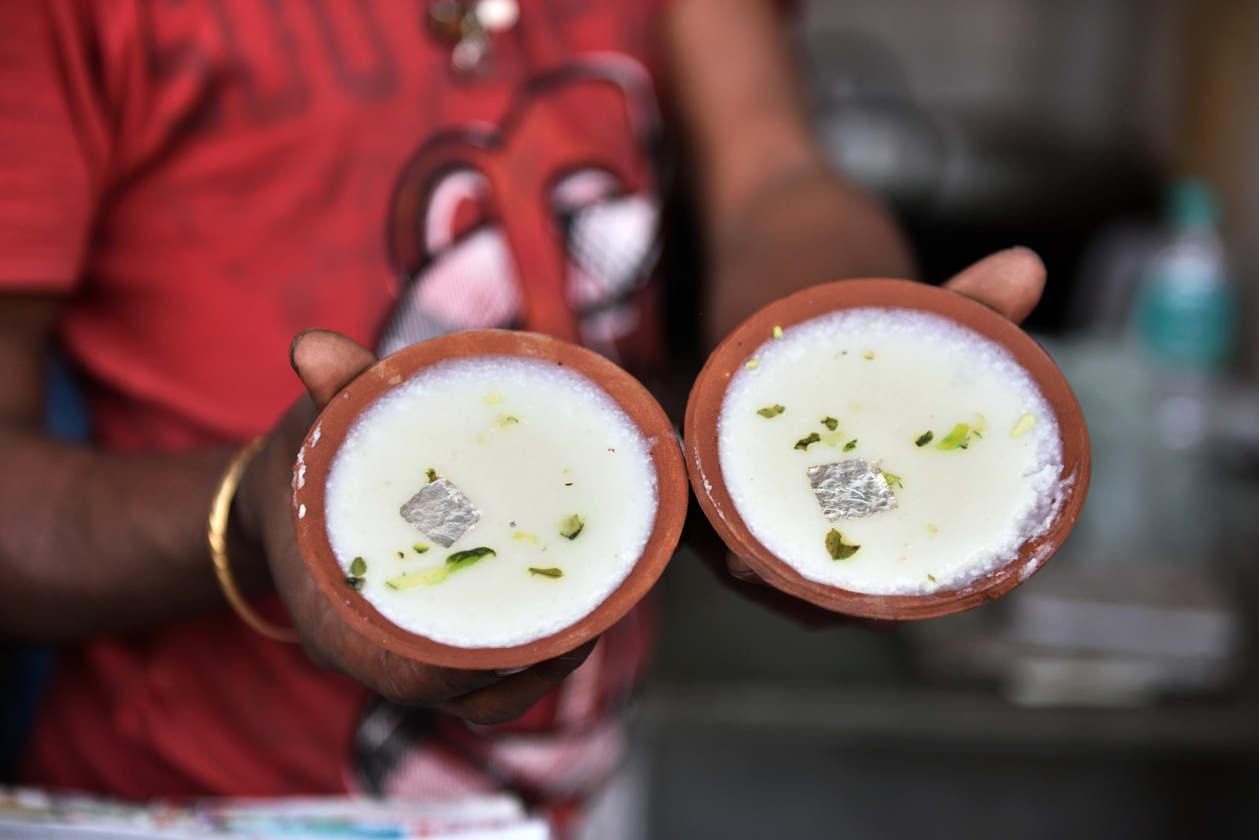 Phirnee at a local sweetshop (Culinary Trail Guided by a Food Sherpa, ITC Maurya).jpg