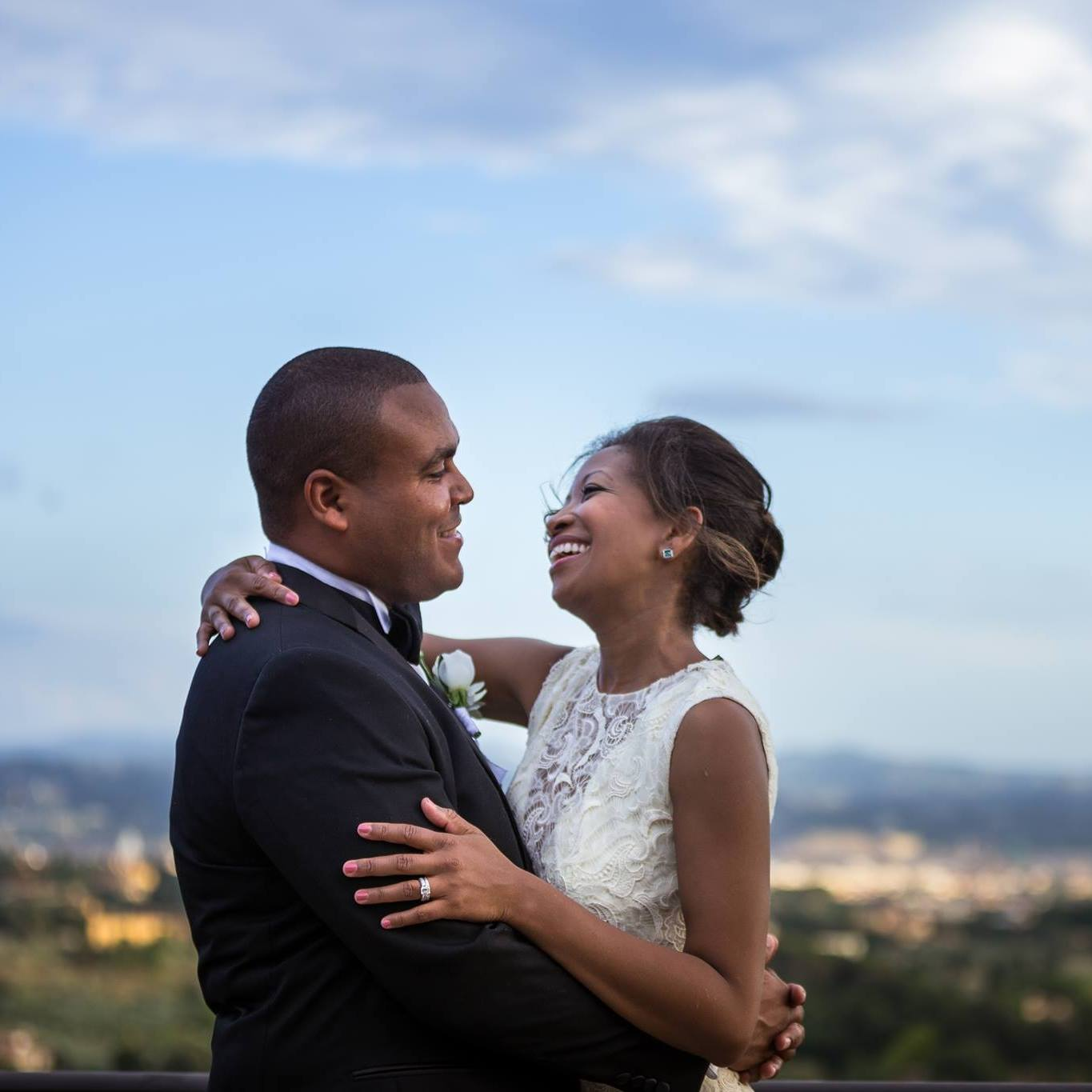 Vow renewal in Tuscany, Italy.(photo cred: Donatella Barbera and Damiano Salvador of D2 Photography)