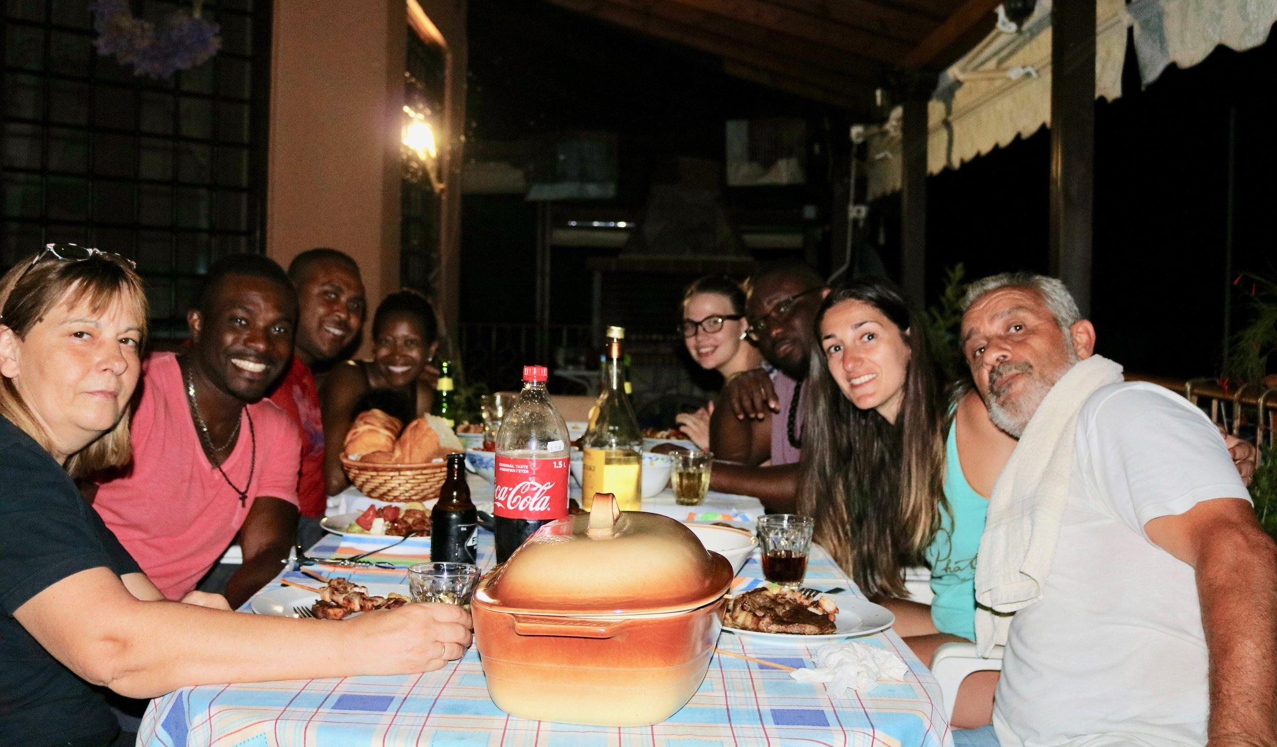 Dinner in Volvi (photo cred: Michael Jeje)