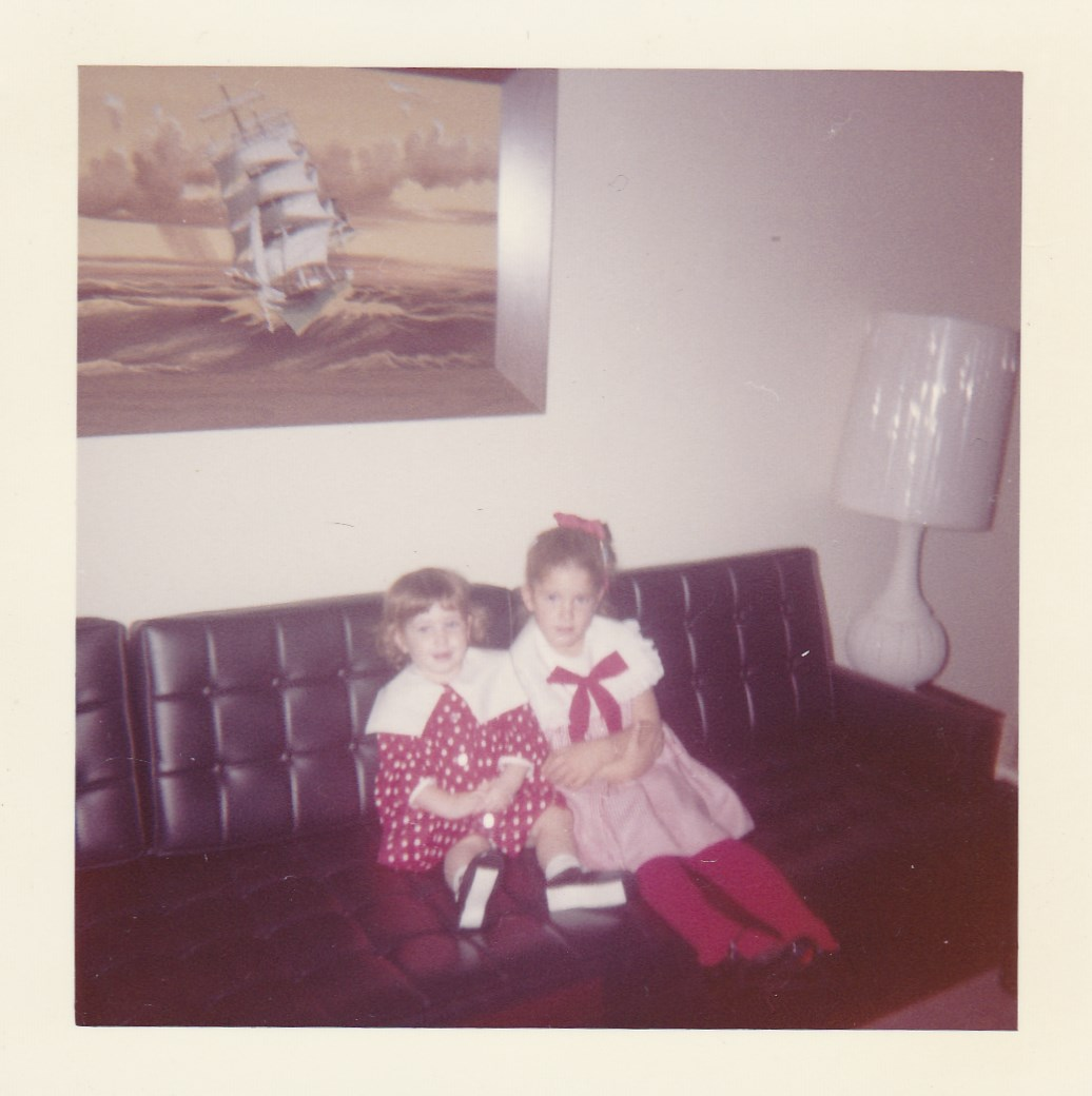 Me and my sister circa 1965 - That is the photo Coco thought was a window!