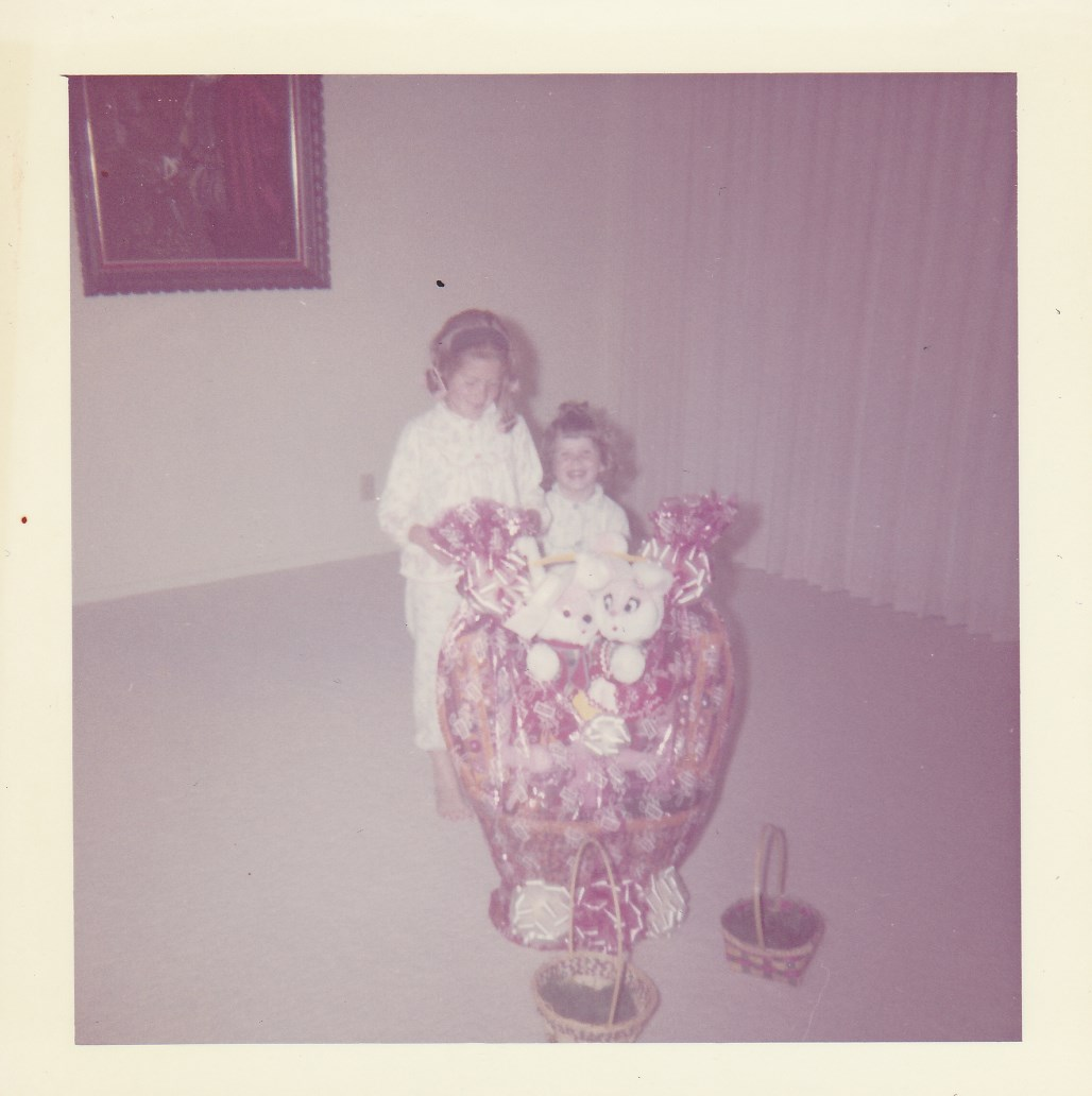 My sister and I circa 1966 on Easter