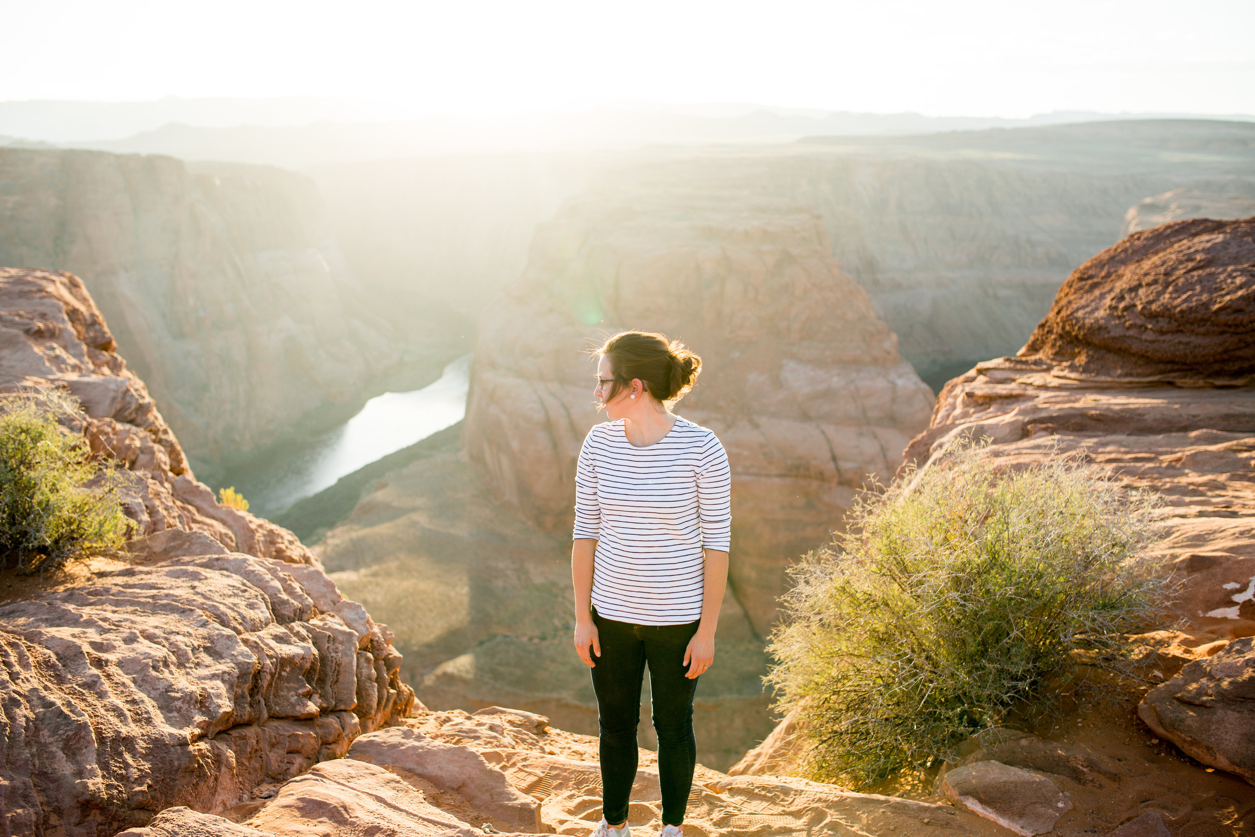 On our way to visit family in St. George, UT we made a stop to Horseshoe Bend in Arizona. Such an amazing part of this earth to experience!