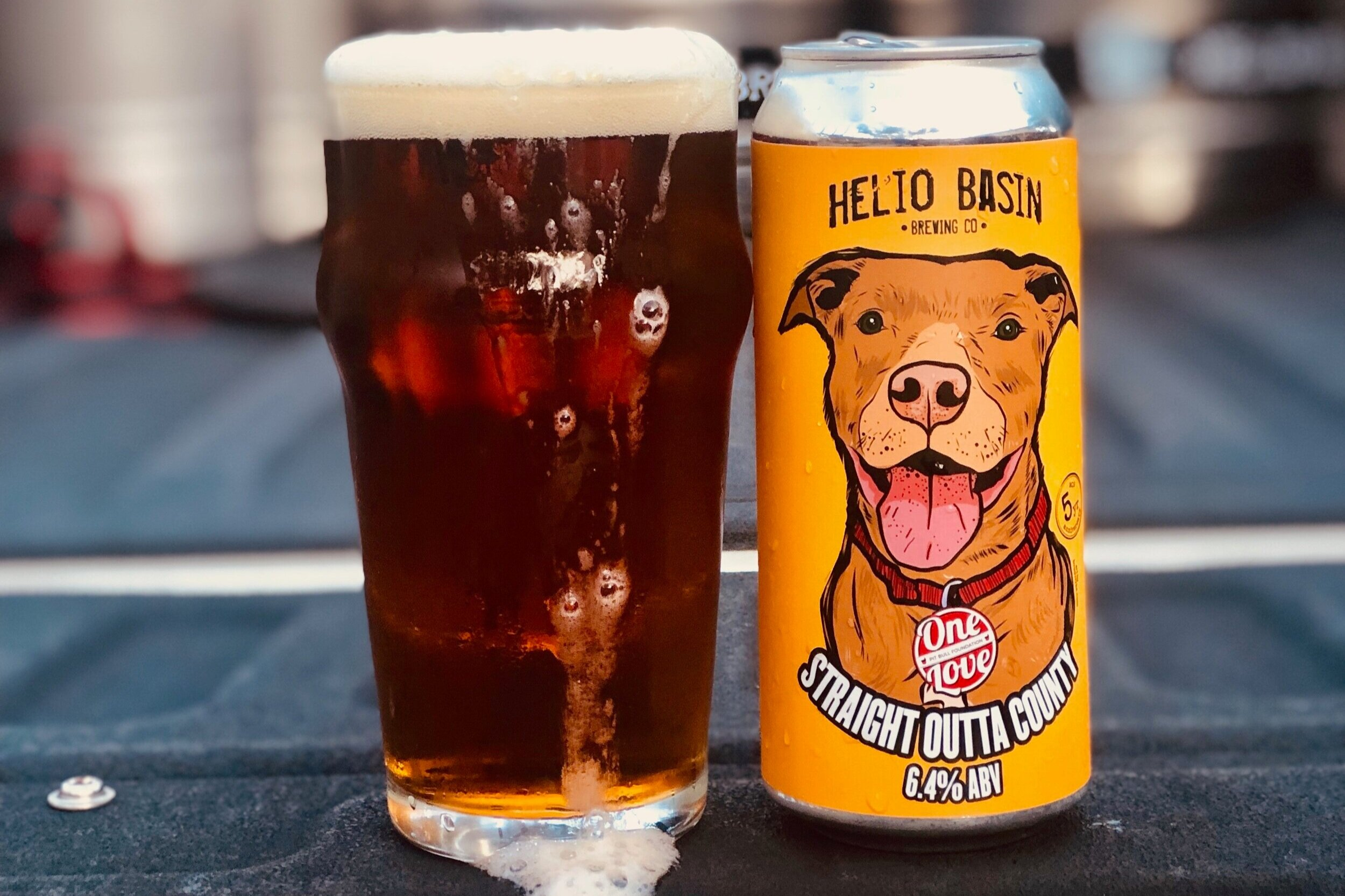 """""""Straight Outta County"""" - Close to a slightly hoppy Extra Special Bitter (ESB) by style, it's easy, clean and flavorful. Dark copper in color and brewed with Cascade and Amarillo hops. This is an easy drinking brew just begging you to take it home!6.4% ABV 40 IBU"""