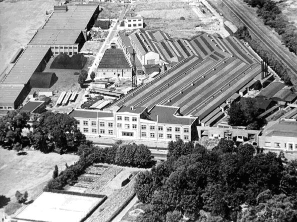 EKCO manufacturing facility, Priory Crescent Southend-On-Sea, 1947.