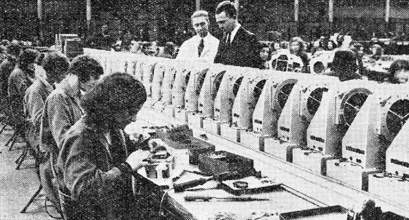 An EKCO assembly line, 1932.