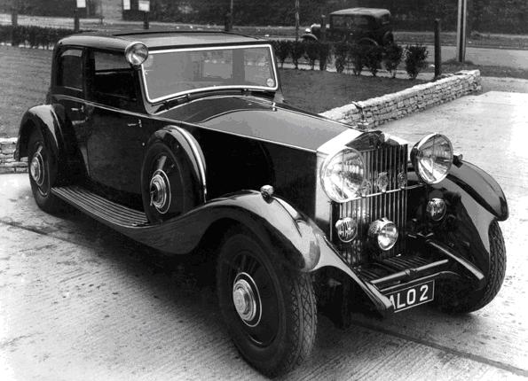Business partner, William Streatfield Verrells' Rolls Royce, 1932, fitted with an EKCO radio system.