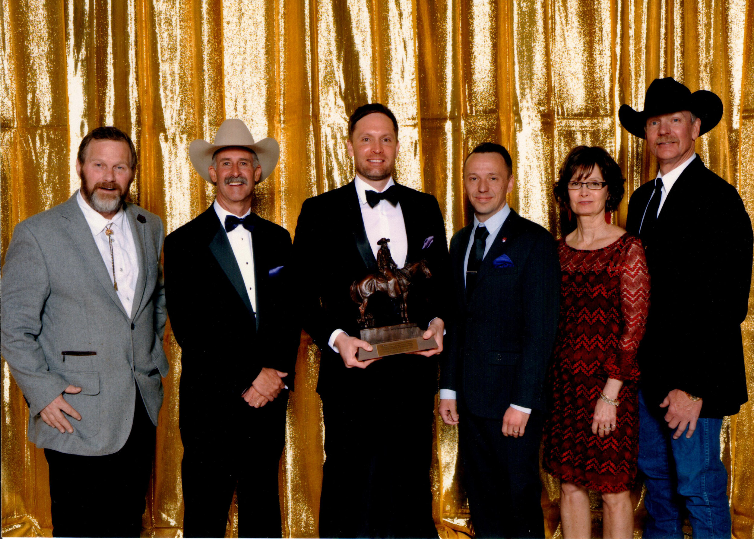 "From left: Daniel ""Boone"" Johnson, Wyatt McCrea, Justin Koehler, Aaron Pendergast, Cindy Koehler, Mike Koehler"