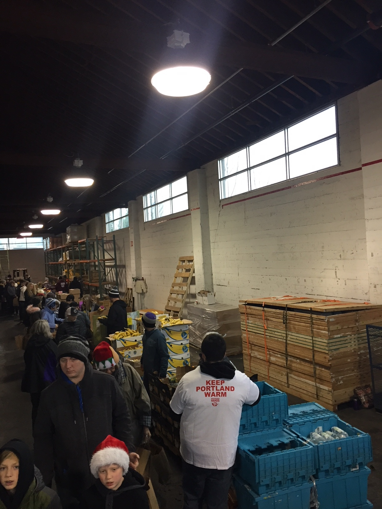 Christmas Eve morning building of the 3,500 care packages for the homeless on streets and in the shelters in the Portland-Vancouver Metro Area.