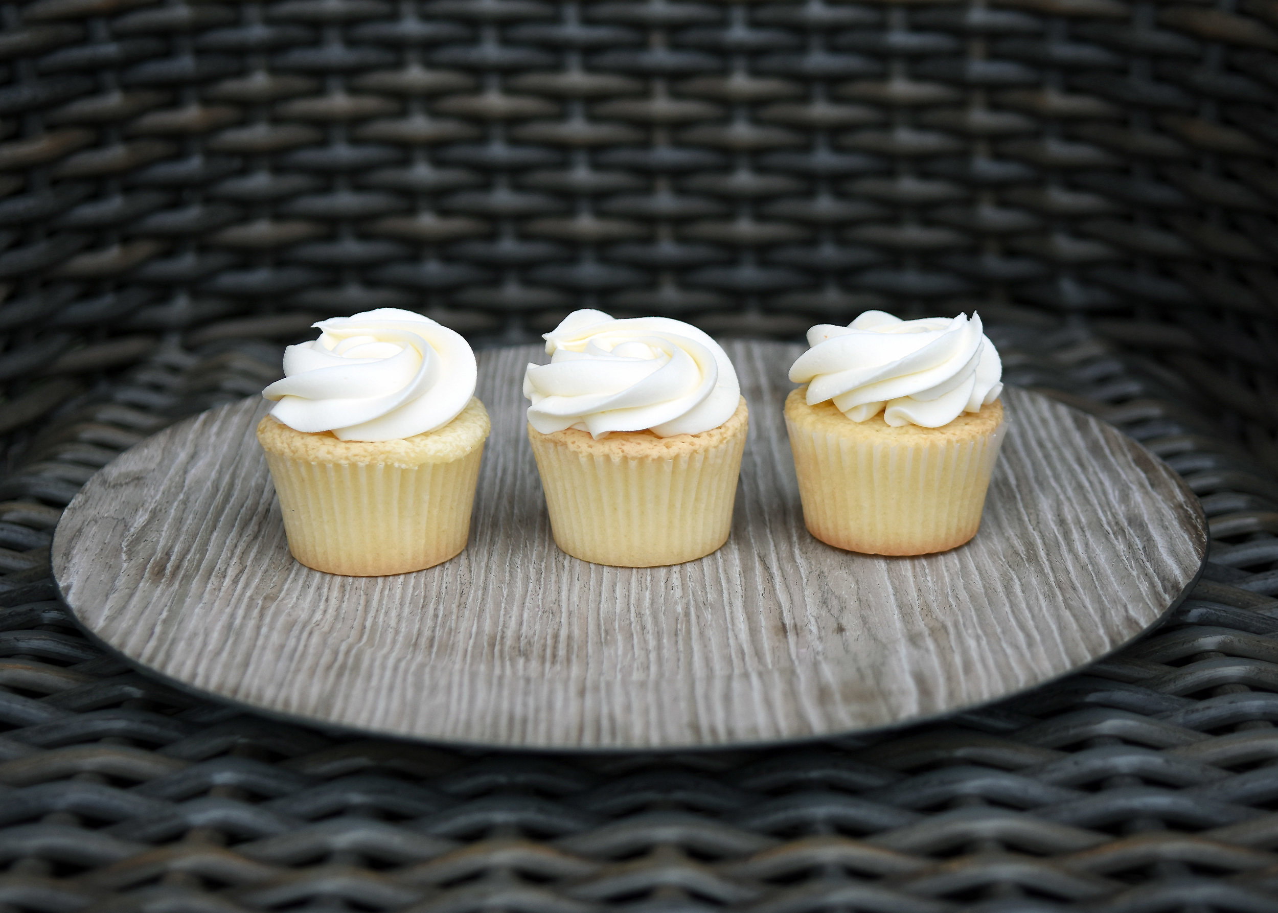 Classic Vanilla Cupcake   2.95 each  Pure and simple. Vanilla buttercream on our tender cream cheese cupcakes.