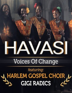 HAVASI - VOICES OF CHANGE    (Music Video)   Assistant Producer  Havasi - Voices of Change is a musicvVideo inspired by the famous song 'Amazing Grace'. Composed and performed by renowned Hungarian pianist Balazs Havasi, the music video also features New York City's very own Harlem Godspel Choir and young Hungarian singer Gigi Radics. Shot entirely in New york the video is directed by Peter Graf.   Click on the image to see the clip.