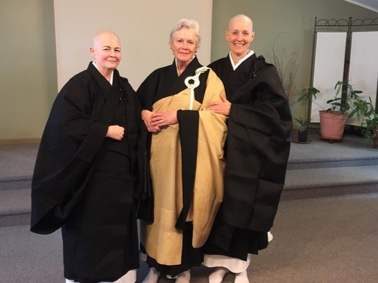 TOKUDO (priest ordination ceremony) for Ekai Shodo and Joshin Kyodo with Roshi Sanchi Shudo