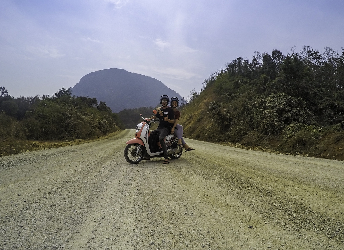 Our little pink number in Laos - flying around the countryside is hours and hours of fun!