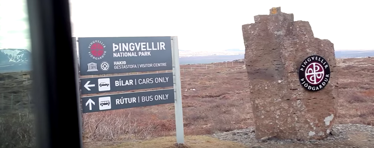 þingvellir National Park sign