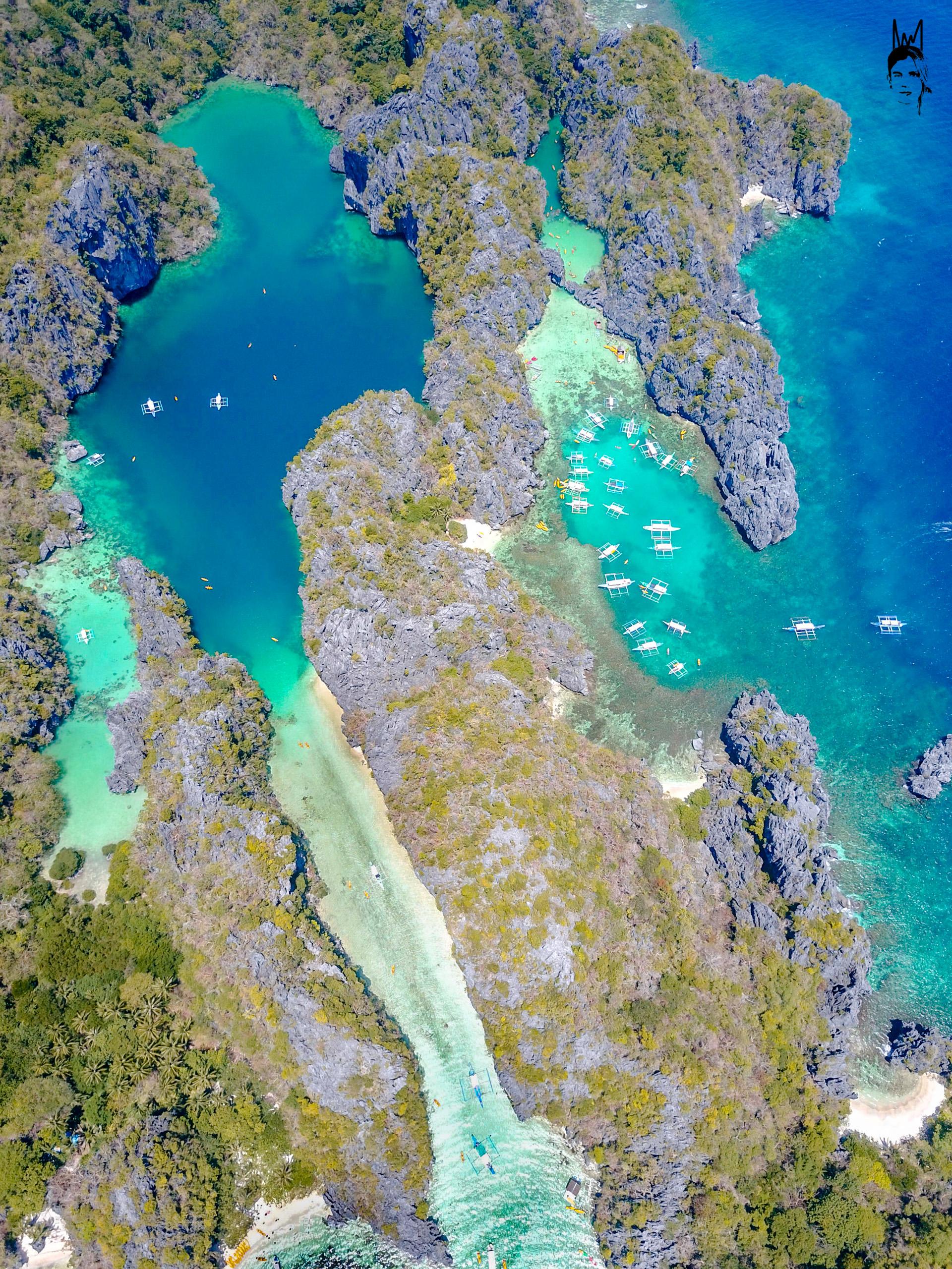 Small Lagoon (right)& Big Lagoon (left) El Nido
