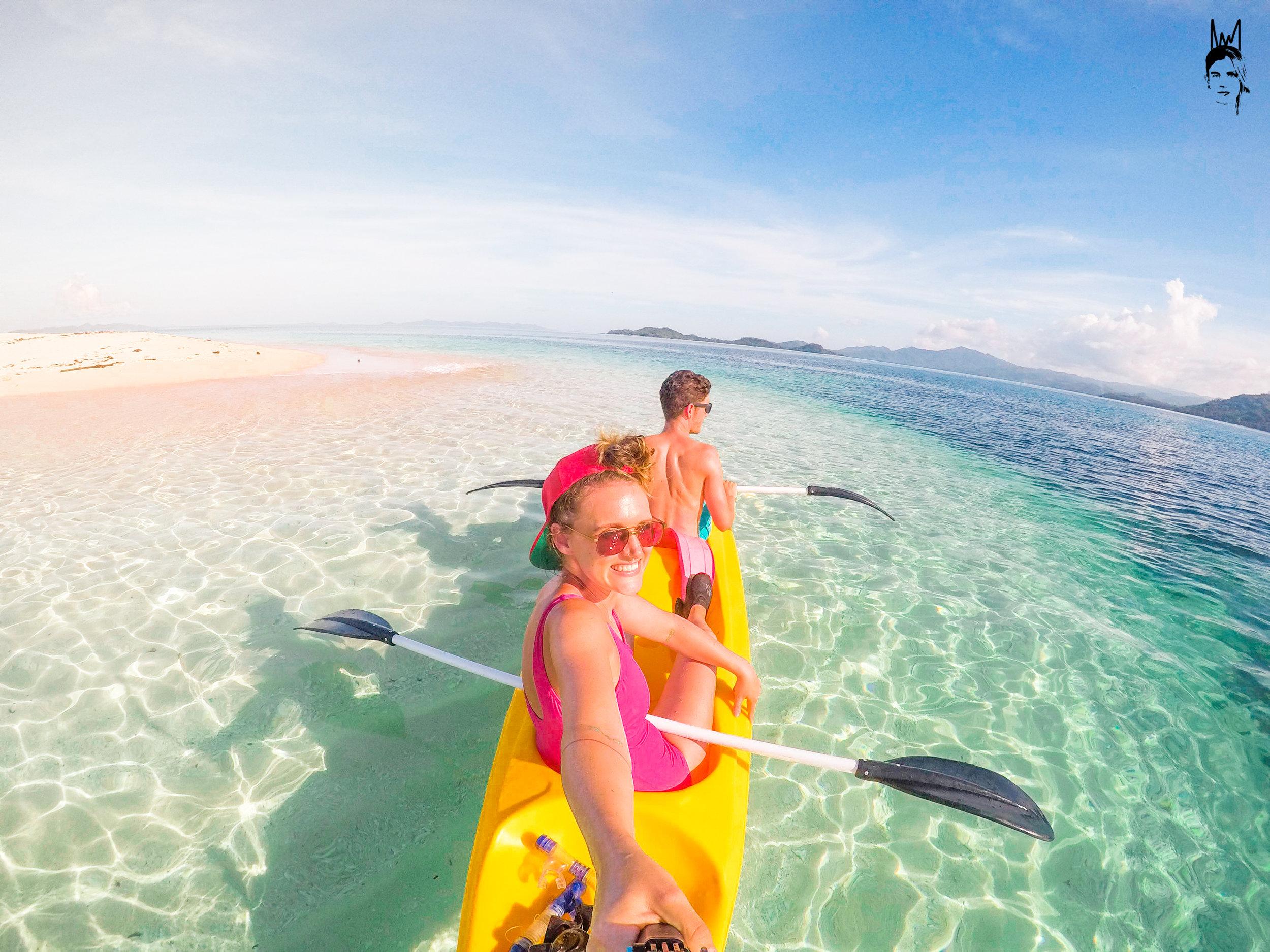 Kayaking around Brother Island