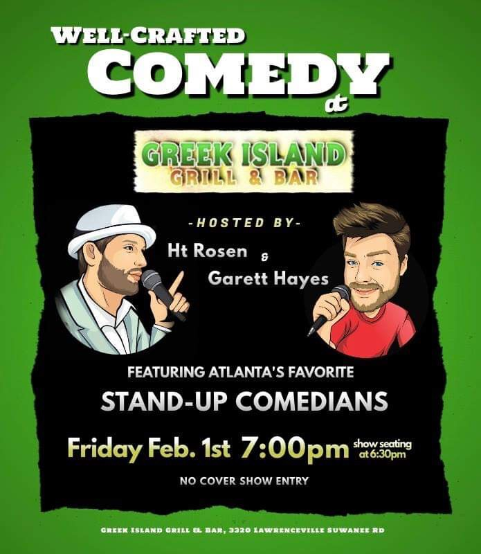 Well-Crafted Comedy at Greek Island Grill & Bar