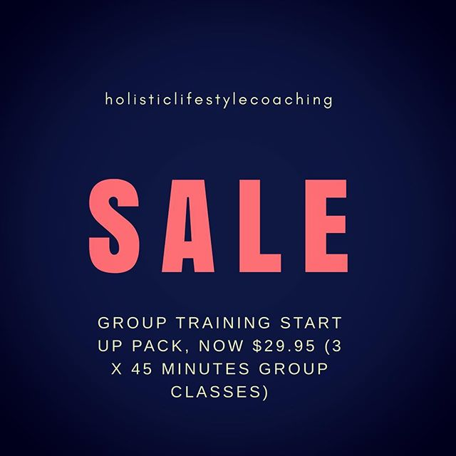 @holisticlifestylecoaching are extending our already generous giveaways🛒 Start your fitness regime this spring with 3 x 45 minute group training classes.  Introduce yourself to the new lifestyle and body you've always wanted.  Our details are in our bio, connect today 👊🏼☯️ #healthylifestyle #saleonstartuppack #springmovement #holisticlifestylecoach #holisticlifestylecoaching #movementandlifestylecoaching #