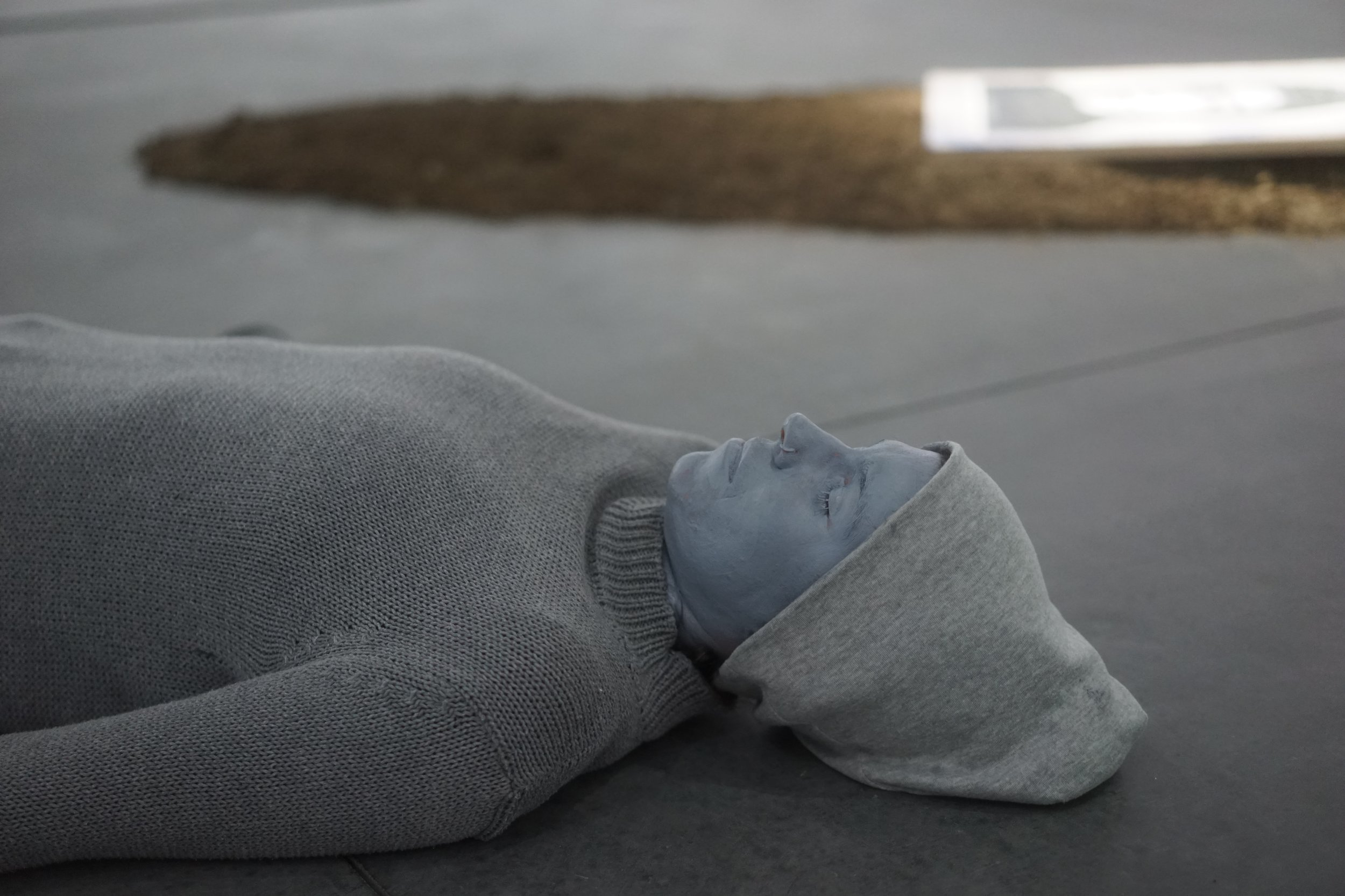 SFAI MFA student Hillary Bond's  Grey Meditations  (2017). Meditation as a method of practice-based-research on Darryl Sapien's  Synthetic Ritual  (1971).