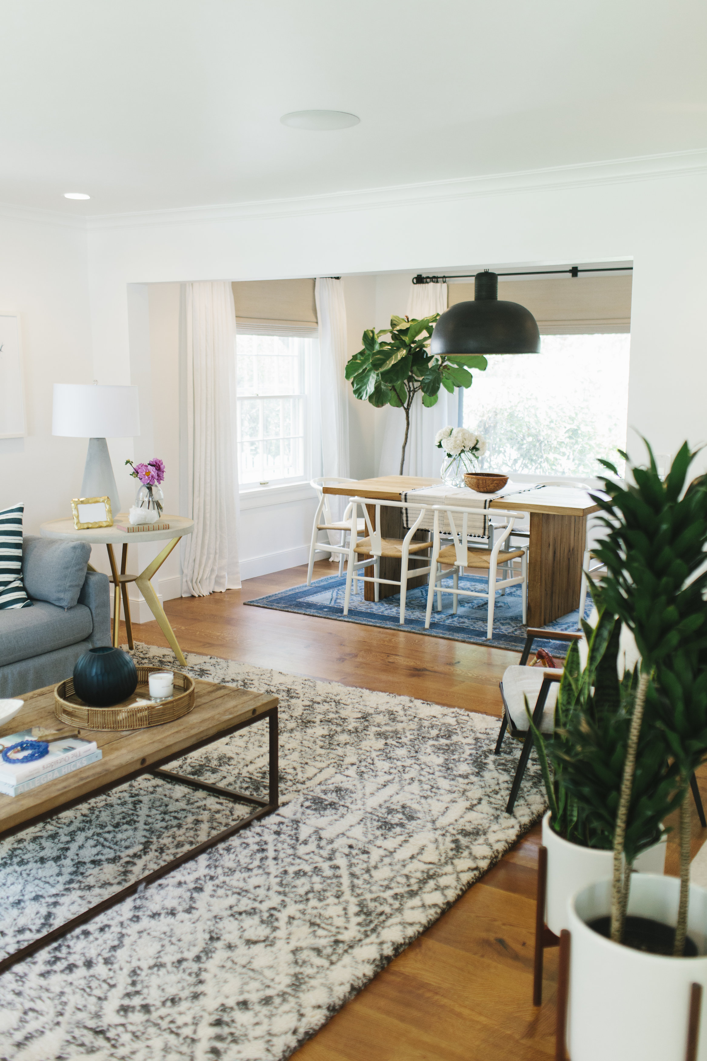 Studio McGee - Lynwood Remodel Living/Dining Area