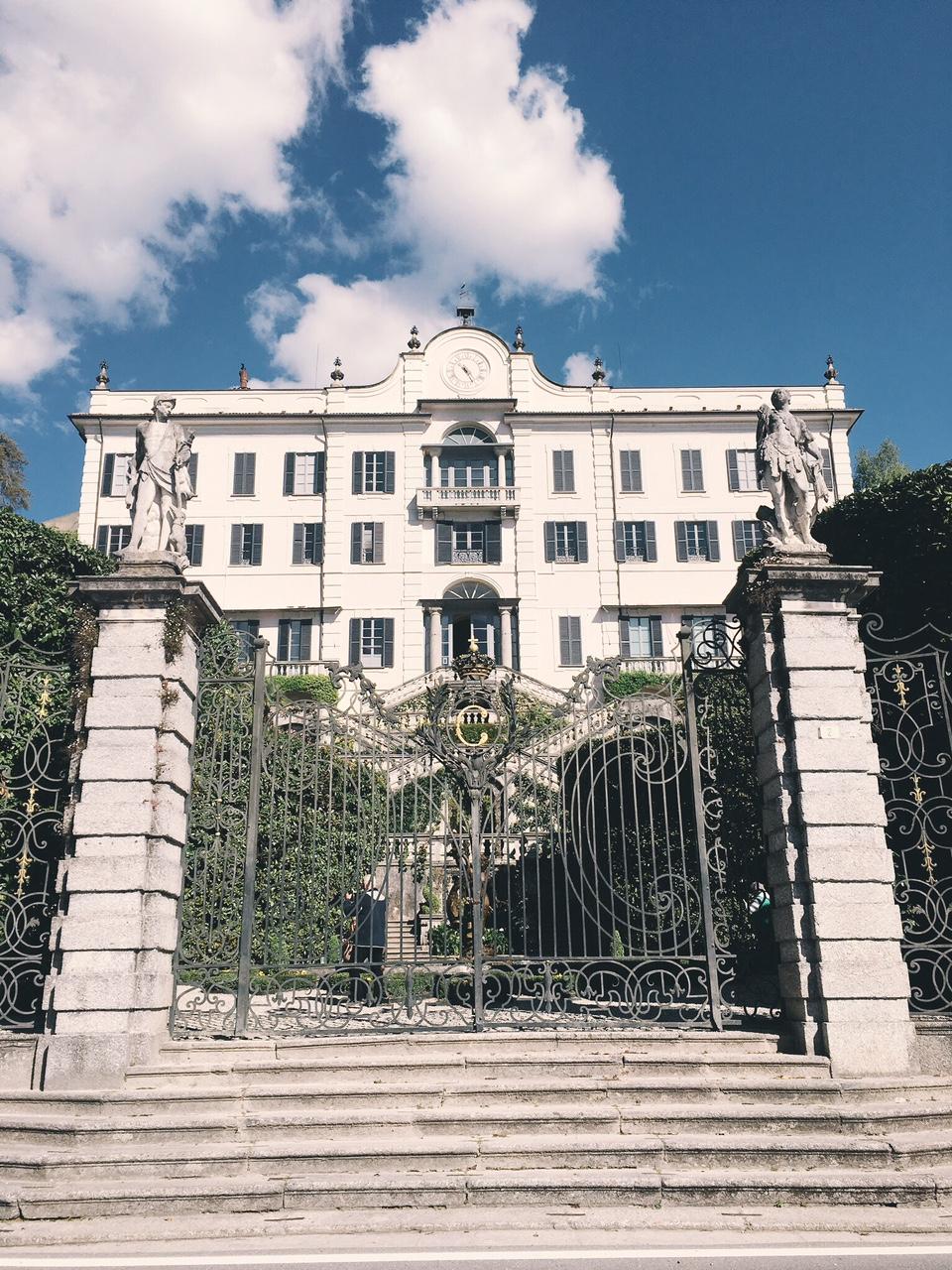 View of Villa Carlotta from the street in Lake Como Tremezzo
