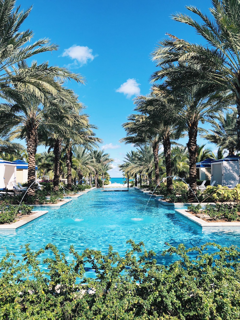 Grand Hyatt Baha Mar Bahamas resort pool palm trees