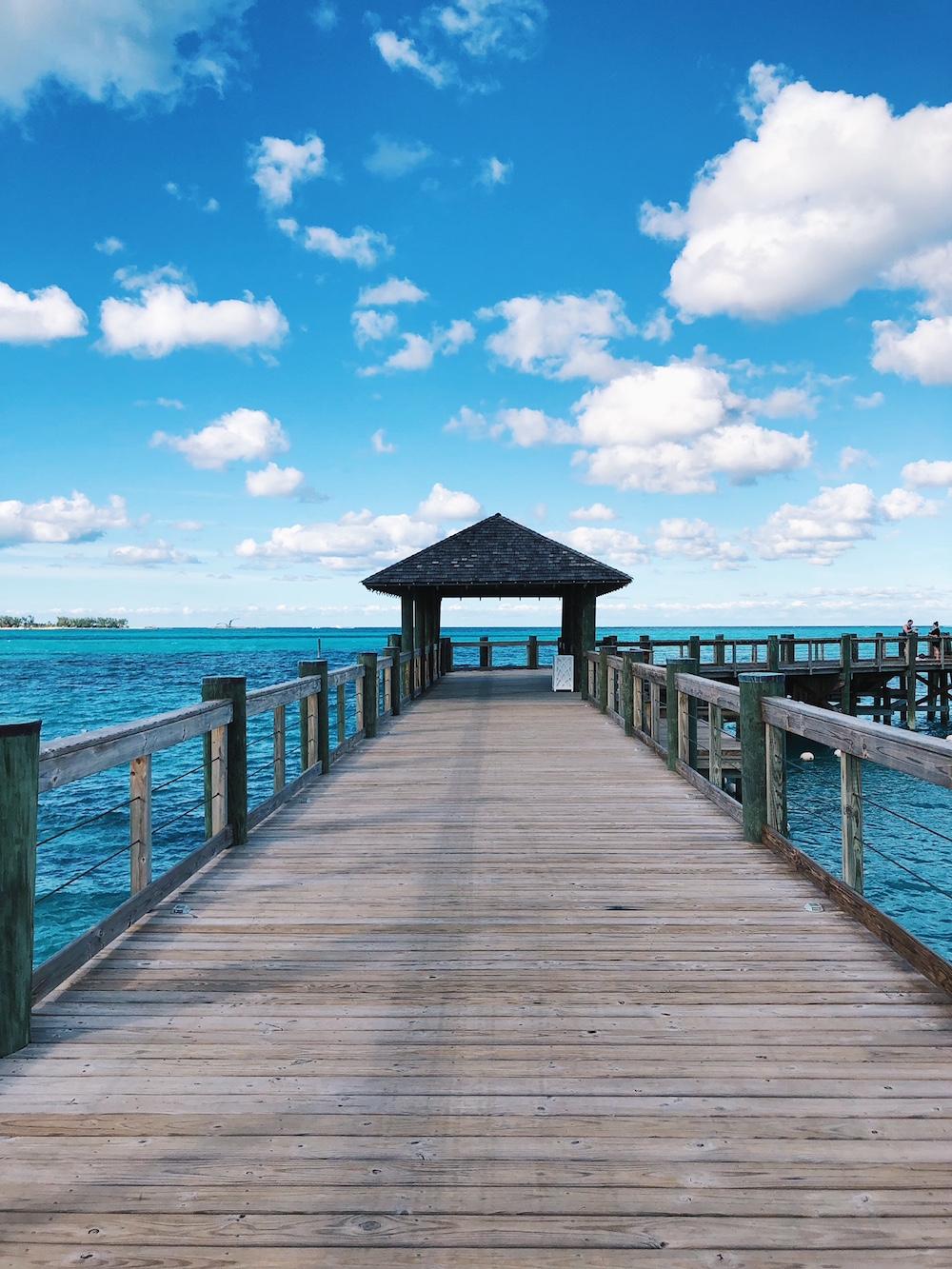 Pier boardwalk at Grand Hyatt Baha Mar Bahamas