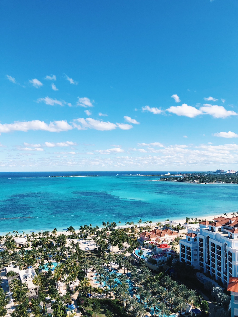 View of water and property grounds from tower at Grand Hyatt Baha Mar Bahamas
