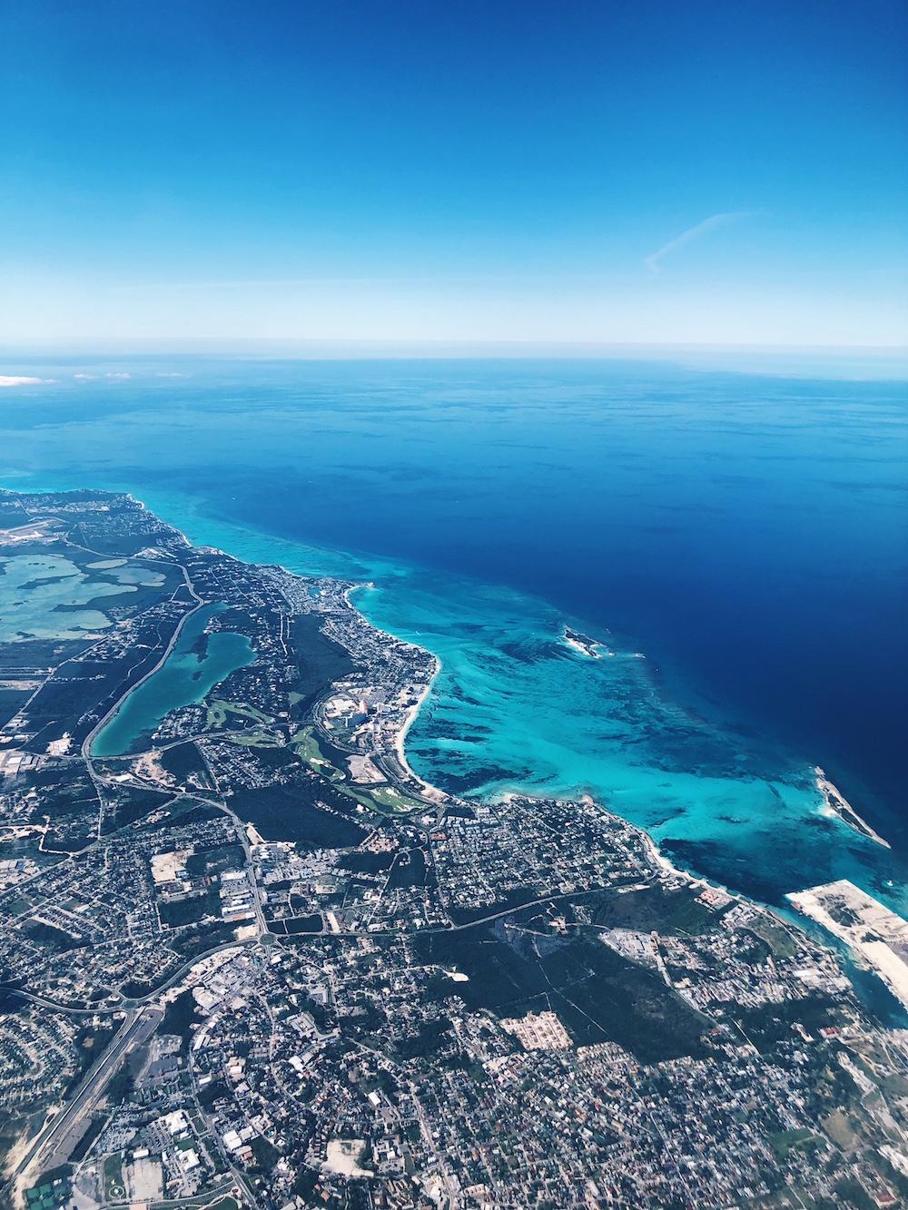 View of Grand Hyatt Baha Mar from the air bahamas